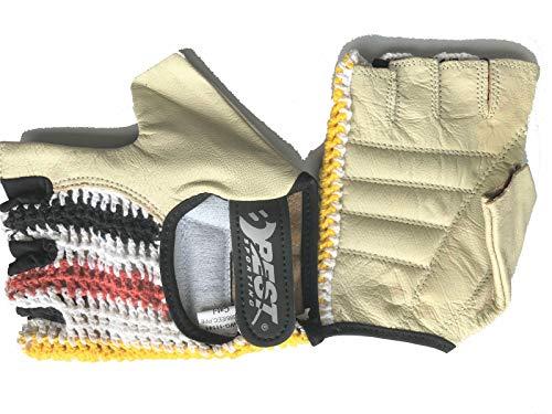 Best Sporting Handschuh Kraftsport Parkour Crossfit Radfahren Fitness halbfinger, Größe:XL