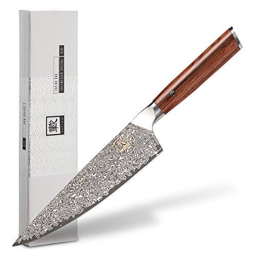 zayiko Damastmesser Chefmesser Special Edition, japanischer Damaststahl VG-10, Special Edition #JU, Damastküchenmesser, Kochmesser
