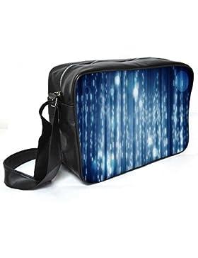 Snoogg Lite Blue Bubbles Leder Unisex Messenger Bag für College Schule täglichen Gebrauch Tasche Material PU