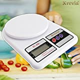 #1: Krevia Electronic Digital 10 Kg Weight Scale Lcd Kitchen Weight Scale Machine MeasureforMeasuringFruits,Spice,Food,Vegetable and more (SF-400) White