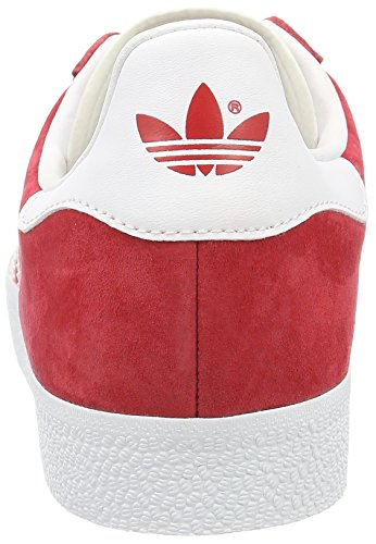 adidas Unisex-Erwachsene Gazelle Low-Top Rot (Power Red/White/Gold Met.)