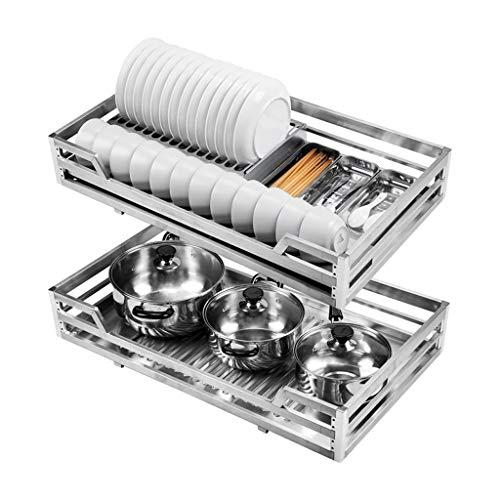 Zcfll Kabinett-Speicher unter Regal-Ablagekorb-Küche-Pantry herausziehen gleitender Metallkorb-Fach-Speicher-Kabinett-Organisator (größe : A650) -