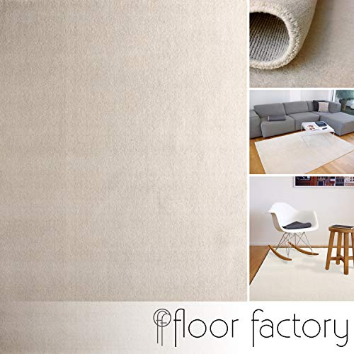 floor factory Alfombra Gabbeh Karma Natural 140x200 cm - Hecha a Mano de Pura Lana Virgen