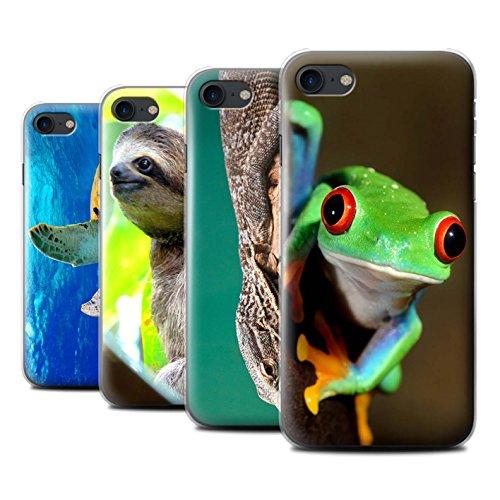 Stuff4 Hülle / Case für Apple iPhone SE / Faultier Muster / Wilde Tiere Kollektion Multipack Exotisch