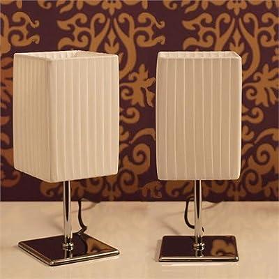 2er Set LOUNGE DESIGN NACHTTISCH - TISCHLAMPE von XTRADEFACTORY Bett Lampe Tisch Leuchte L22 von XTRADEFACTORY GMBH auf Lampenhans.de
