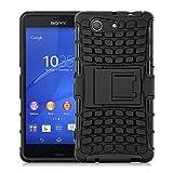 Sony Xperia Z3 Compact Outdoor Hülle | JAMMYLIZARD Schutzhülle [Alligator] Doppelschutz Handyhülle Hardcase aus Polycarbonat und Silikon Backcover Lifeproof Case Cover, Schwarz