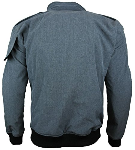 Heyberry Soft Shell Motorradjacke Textil Grau meliert Gr. L - 3