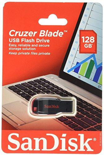 5ffd75bb1 Buy SanDisk Cruzer Blade USB 2.0 128GB Pen Drive (Black   Red ...