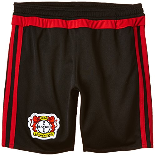 adidas Kinder Shorts Bayer 04 Leverkusen Home Black/Scarlet, 164