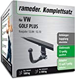 Rameder Komplettsatz, Anhängerkupplung abnehmbar + 13pol Elektrik für VW Golf Plus (113022-05379-4)