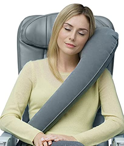 Travelrest - Ultimate Travel Pillow - Ergonomic - Lean Into It To Sleep - Fall Asleep Faster, Stay Asleep Longer (Rolls Up