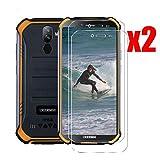 QFSM 2 Pack Film Protecteur pour DOOGEE S40,9H Dureté Protection d'écran de téléphone Portable résistant à l'usure de Haute qualité en Verre Trempé