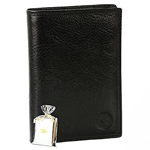 GRAND CLASSIQUE Portefeuille en cuir NOIR N1328 - Grand Portefeuille