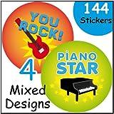 Music Themed Reward Stickers