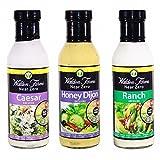 Walden Farms Near Zero Salad Dressing Variety Pack 1 (Caesar, Honey Dijon, Ranch Dressing)