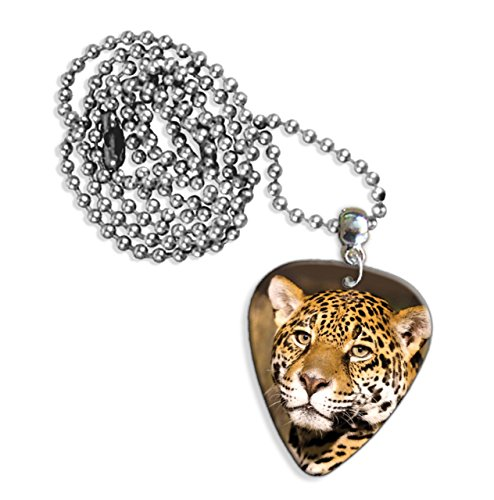 Leopard Face Logo Gitarre Plektrum Kette (GD) -