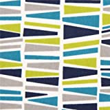Robert Kaufman Flanellstoff grafisches Mosaik Muster petrol