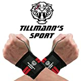 Tillmann's POLSIERE PALESTRA - POLSIERA TENDINITE - POLSINI PALESTRA PESI - FASCE BOXE - Protezione ideale nel Bodybuilding Crossfit Calisthenics - Set da 2 fasce