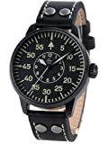 Laco Bielefeld Type B Dial Miyota Automatic Watch, Black Ion Case 861760