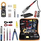 Kit de soldador con multímetro digital de abrazadera, herramienta de soldadura de temperatura ajustable Pancellent