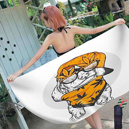 3D Strandtuch Groß, Morbuy Microfaser Leicht Kompakt Tragbar Rechteckig Beste Schwimmen Sport Reisen Yoga & Gym Handtuch Badetuch (70x150cm,Brille Hund)