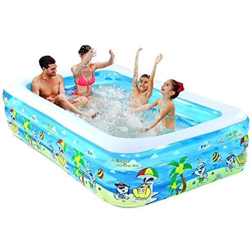 Aufblasbare Badewanne, Aufblasbare Badewanne der Erwachsenen Swimmingpool-Kinder transparenter Spiel-Pool im Freien rechteckiges Blau (größe : 200cm*165cm*60cm)