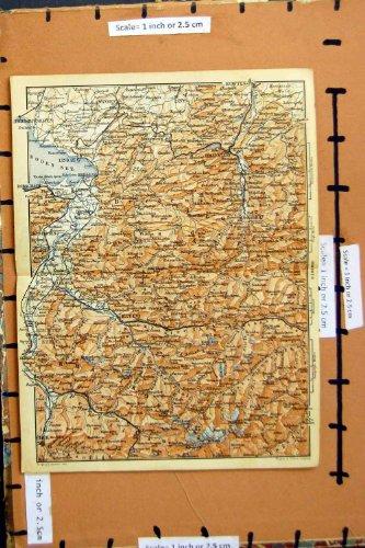 MAPPA 1893 LINDAU BLUDENZ GERMANIA KEMPTEN CHUR WANGEN