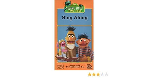 Sesame Street Sing Along VHS Tape 1987 Jim Hensons Muppets Amazoncouk Video