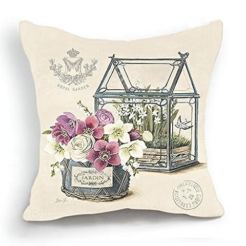 Verre Style Maison - telisha style rétro Beige Maison Violet Fleur