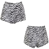 NET TOYS Shorts Zebralook Hotpants Zebraprint S/M 34 – 40 Panty Animal Print sexy Zebra Hot Pants Faschingskostüm Kurze Hosen Party Outfit Damen