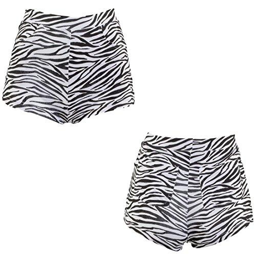 NET TOYS Shorts Zebralook Hotpants Zebraprint S/M 34 – 40 Panty Animal Print sexy Zebra Hot Pants Faschingskostüm Kurze Hosen Party Outfit ()