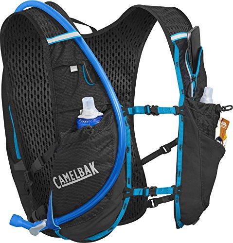 Camelbak Ultra 10 Mochila de Hidratación, Hombre, Negro / Azul (Atomic Blue), Única