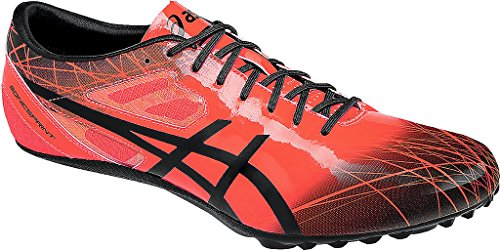 Asics SONICSPRINT, Scarpa chiodata da velocità, FlashCoral/Black FlashCoral/Black