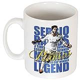 Sergio Ramos leyenda cardioversión Blanco blanco Talla:talla única