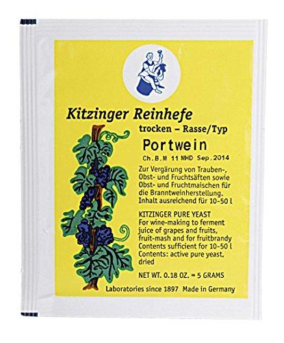 WEINHEFE PORTWINE Arauner Kitzinger – Trocken Reinhefe für 50L | Naturhefe | Obstwein hefe |...