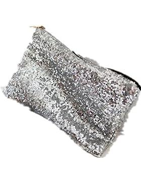Kupplung / Handtasche für Damen, glänzende Pailletten, Bling, Glitzer, Party-Clutch/-Handtasche, Geschenkidee...