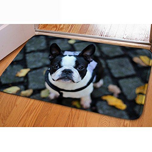 Chaqlin Fußmatte mit niedlichem Hunde-Motiv, waschbar, saugfähig dog-6