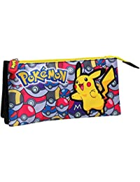 "Pokemon pt-233-pk ""Pikachu con Pokeballs"" Triple bolsa estuche"
