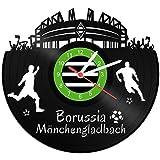 GRAVURZEILE Schallplattenuhr Borussia Mönchengladbach - 100% Vereinsliebe - Upcycling Design Wanduhr aus Vinyl Made in Germany