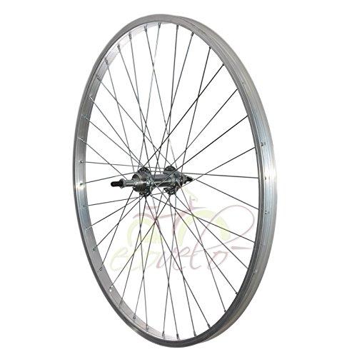 Cerchio ruota bici bicicletta mtb mountain city bike mozzo con raggio 26x1 3/8 posteriore con cambio