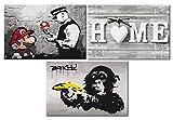 murando Peinture par Numero Banksy Mario & Home & Singe 180x40 cm n-A-0352-ab-e