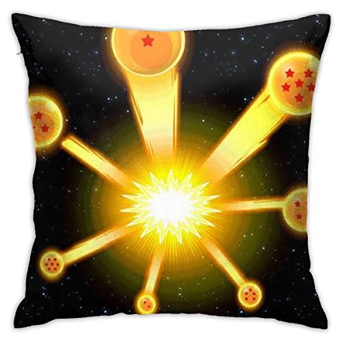 Greatbe Wurfkissenbezüge Dragon Ball Z Beide Seiten Drucken Reißverschlussabdeckung Für Couch Sofa Decor Kissenbezüge 18 X 18 Zoll (Z Dragon Ball Unter $10)