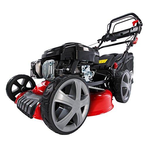 BRAST Benzin Rasenmäher 196ccm Elektrostart per Zündschlüssel regelbarer Selbstantrieb GT Markengetriebe kugelgelagerte Big-Wheeler-Räder Stahlblechgehäuse Easy Clean 4,4kW (6PS)