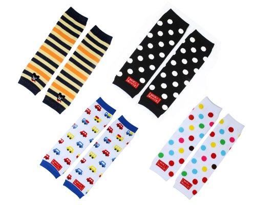 4× Baby Socken Cotton Leggings Kinder Knieschützer Mädchen Jungen Legs Beinstulpen