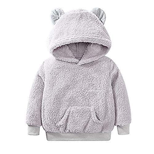 Selou Girl & Boy lange Ärmel Weiches Plüsch Hoodie Panda styling top Herbst Winter Shirt Dicker warmer Pullover Einfarbiger niedlicher Damemantel Flauschige Kleidung Streetwear