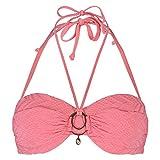 Hunkemöller Damen Vorgeformtes Strapless-Push-up-Bügel-Bikinitop Texture Doutzen Orange C80133766