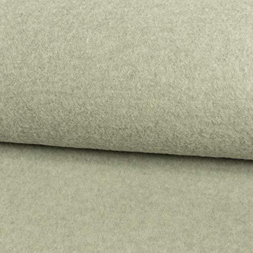 Stoffe werning tessuto a maglia in lana vergine, tinta unita, grigio chiaro, lavorazione a maglia, 0,5 m