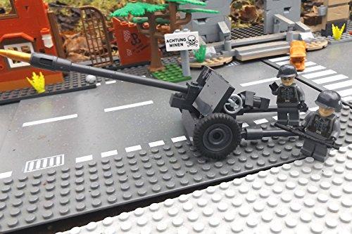Modbrix 2185 - ☠ Panzerabwehrkanone PAK 40 inkl. Custom Elite Wehrmacht Soldaten aus Lego© Teilen ☠ thumbnail