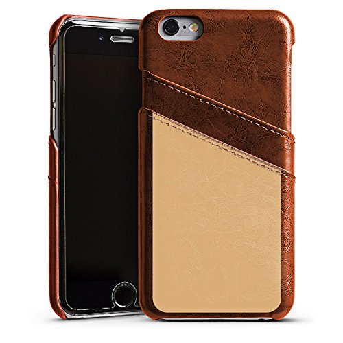 Apple iPhone 4 Housse Étui Silicone Coque Protection Beige Sable Marron Étui en cuir marron