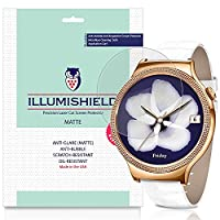 iLLumiShield - Huawei Watch Elegant Screen Protector / Anti-Glare (Matte) HD Clear Film / Anti-Bubble & Anti-Fingerprint / Japanese Invisible Shield + Lifetime Warranty - [3-Pack]